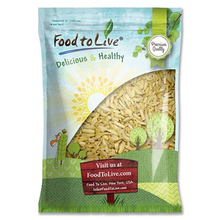 Food To Live ® ALMONDS (Slivered, Blanched) (8 Pounds)