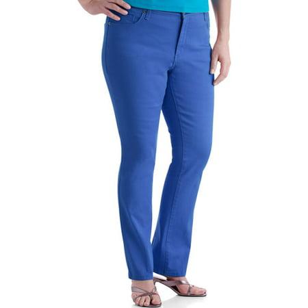 52dc54c2930 Faded Glory - Women s Plus-Size Classic 5-Pocket Straight-Leg Jeans -  Walmart.com