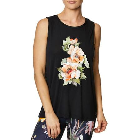 Betsey Johnson - stay wild floral muscle tank top - Walmart.com e2b41a767dc7d