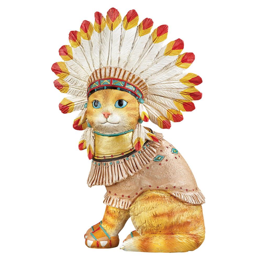 Native American Pet Southwest Garden Statues Décor, Cat