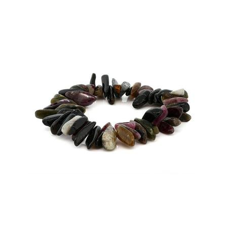 Women's 7 Inch Tourmaline Stone Chip Stretchy Bracelet