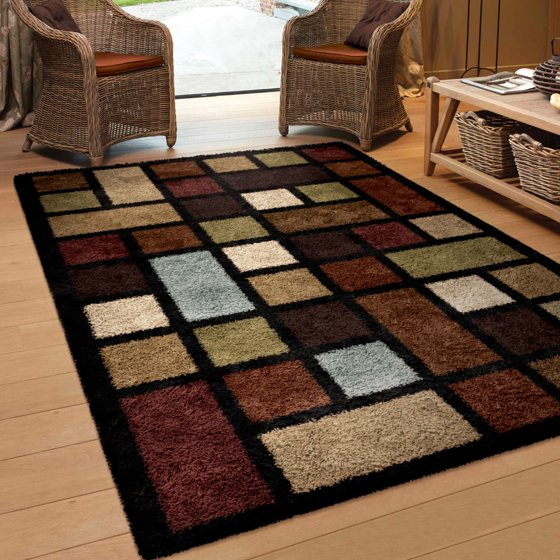 Orian Rugs Soft Color Grid Multi Colored Area Rug