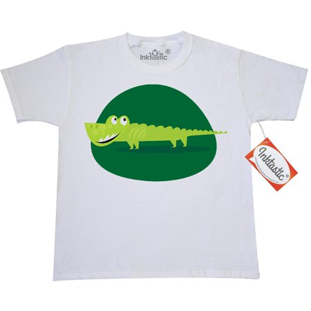 Inktastic Alligator Kids Jungle Animals Youth T Shirt Crocodile Cute Scary Green