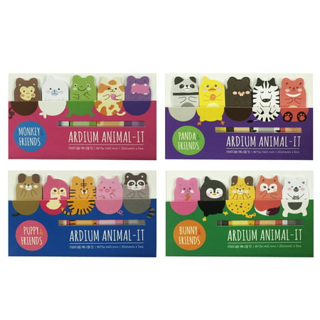 Wrapables® Animal Friends Bookmark Flag Tab Sticky Notes (Set of 4)