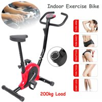 HERCHR Stainless Steel Exercise Bike Indoor Cycling Bicycle LCD Screen Fitness Training, Body Training Machine, Indoor Bicycle