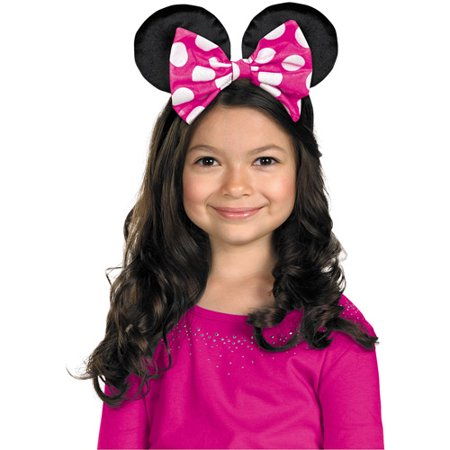 Accessory For Minnie Mouse (Minnie Mouse Ears with Reversible Bow Halloween)