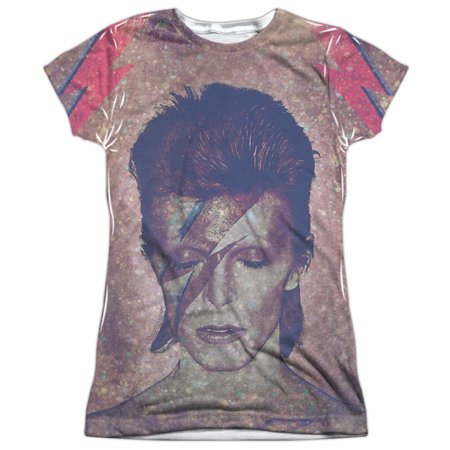 David Bowie Glam Juniors T-Shirt Large