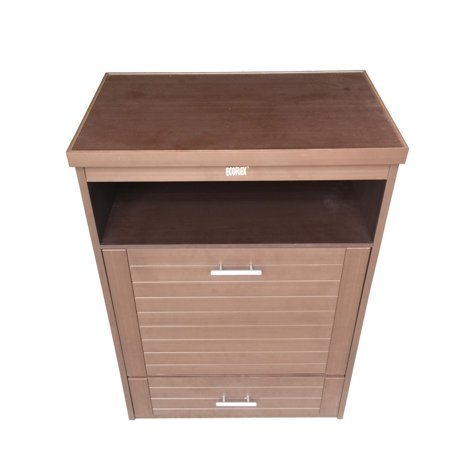 Ecoflex Dog Food Pantry And Double Bowl Russet