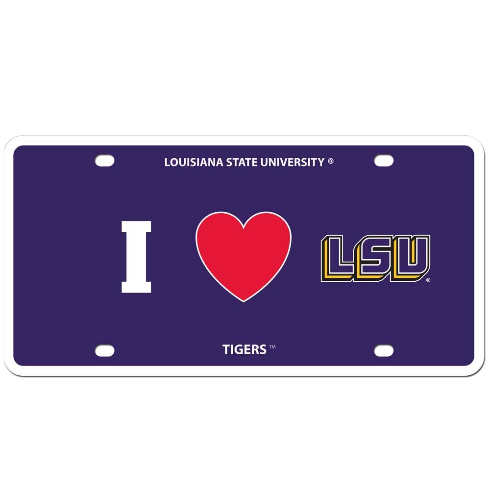 LSU Styrene License Plate (F)
