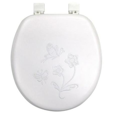 - Mainstays Believe Butterfly Vinyl Toilet Seat