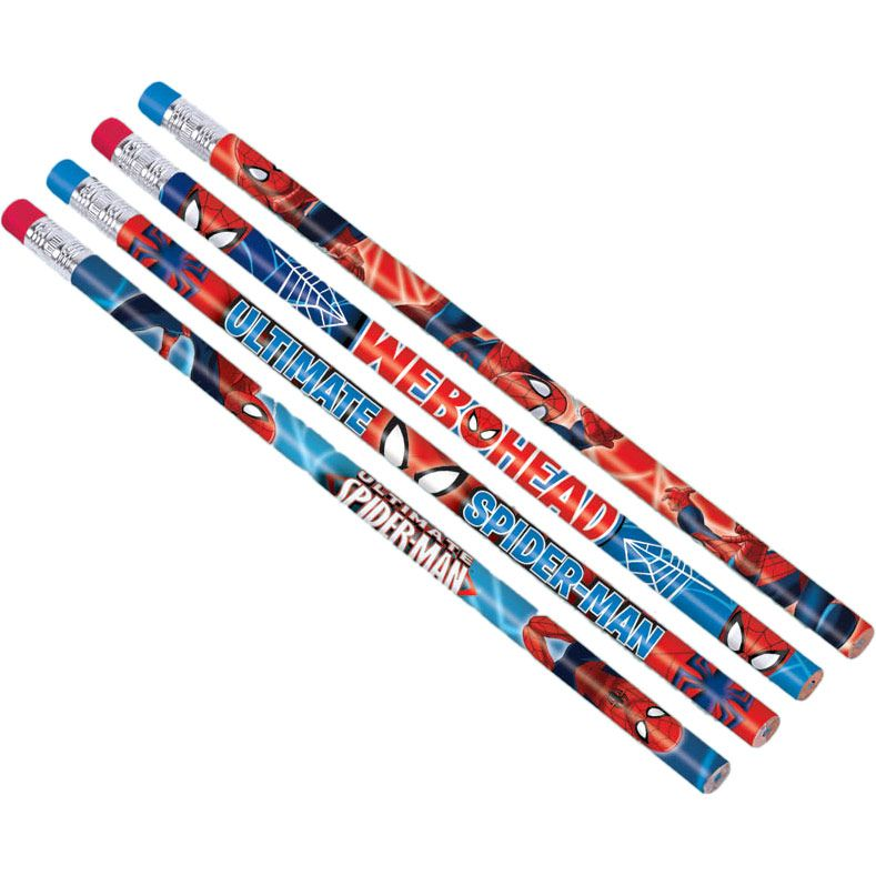 Spider-Man Pencil Favors (12 Pack) - Party Supplies