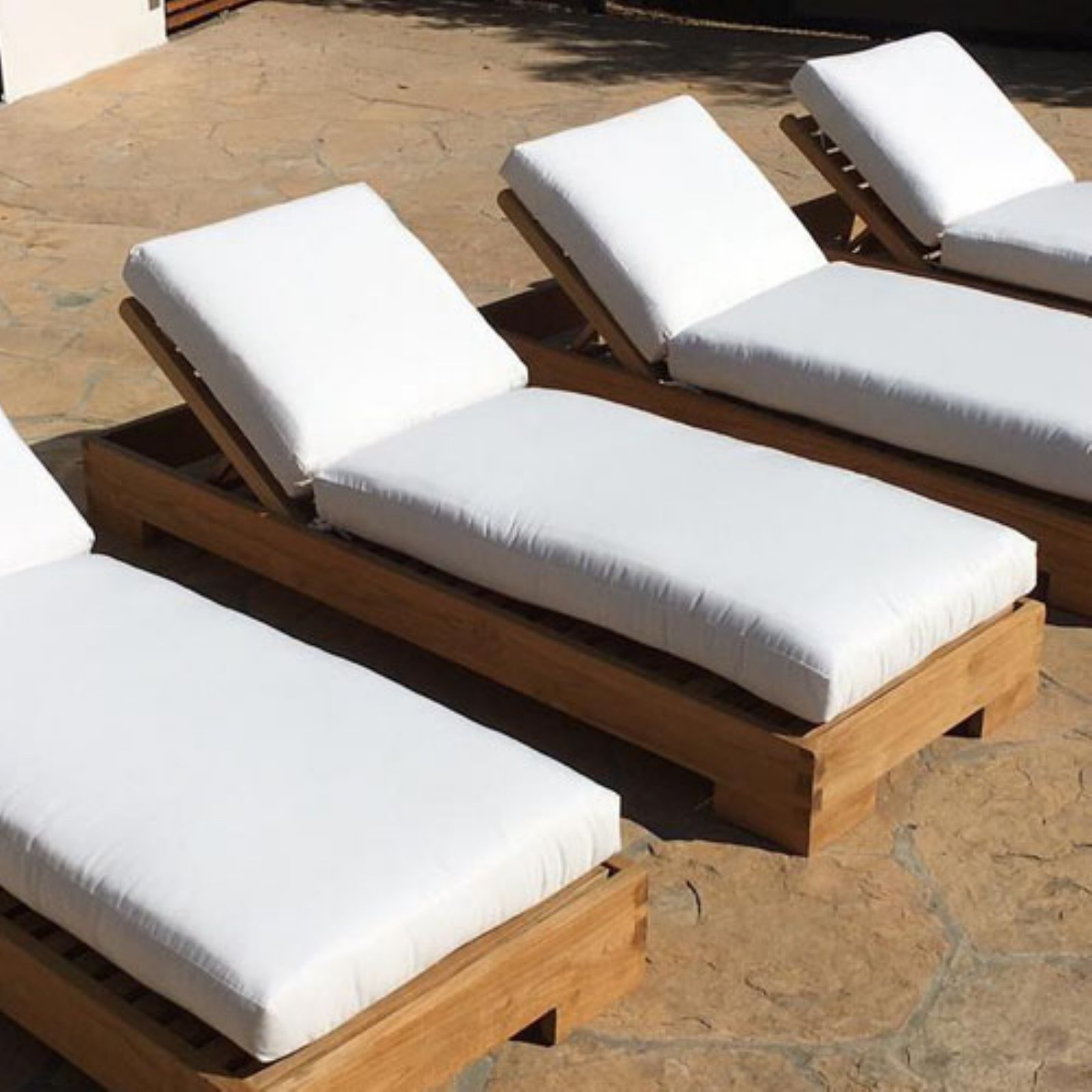 IKsun Teak Teak Outdoor Chaise Lounger with Cushion by IKSUN TEAK