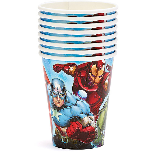 Marvel Avengers 9 oz. Paper Party Cups, 8 Count, Party Supplies
