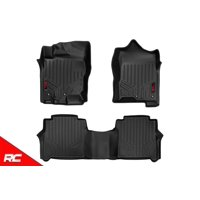 Rough Country Floor Liners compatible w 2008-2019 Nissan Frontier Crew Cab 1st 2nd Row Weather Floor Mats M-80513