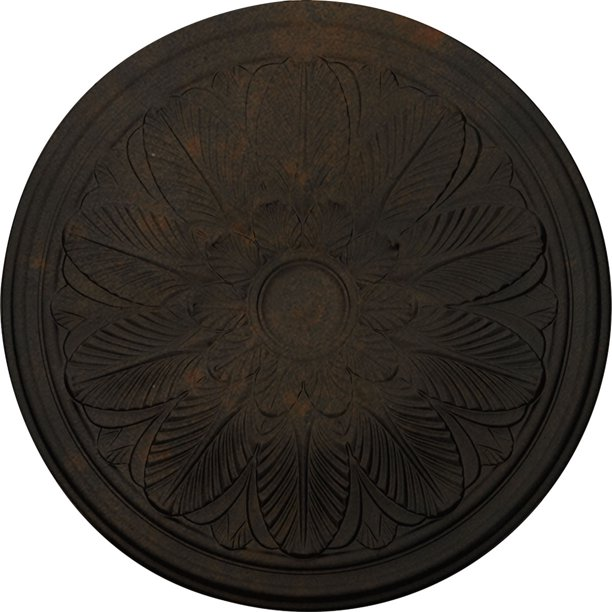 22 5 8 Od X 1 3 4 P Bordeaux Ceiling Medallion Fits Canopies Up To 3 1 4 Hand Painted Rust Walmart Com Walmart Com