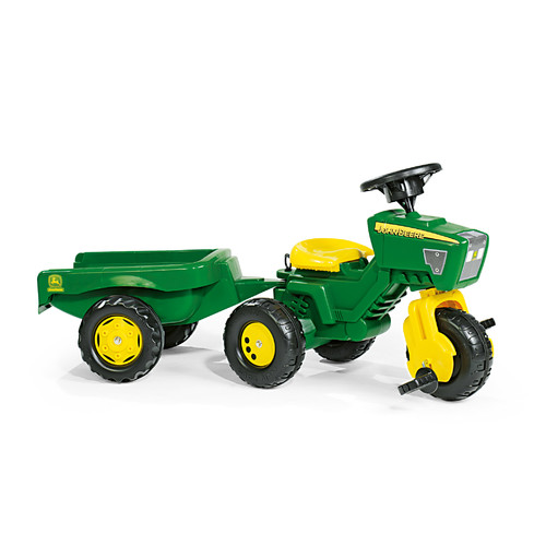 Rolly Toys John Deere 3 Wheel Pedal Tractor with Trailer by rolly®