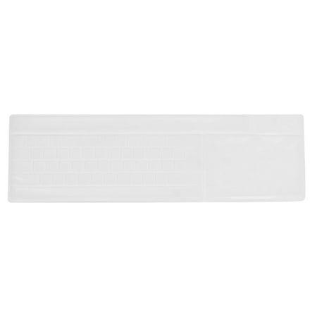 Film Protection Clavier Silicone Solf Couvrir Blanc pour Ordinateur Bureau - image 1 de 1