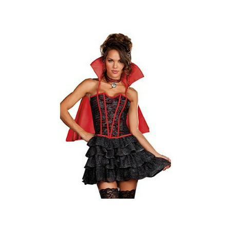 Dreamgirl Lady Is A Vamp Vampire Costume Set 7603 Black/Red
