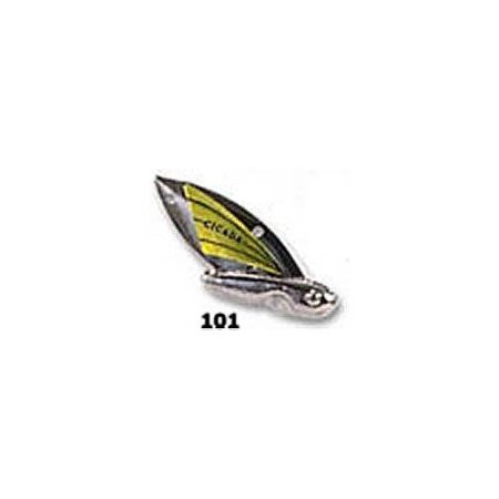 Reef Runner Cicada Lure, 1/2-Ounce, Silver/Chartreuse Multi-Colored