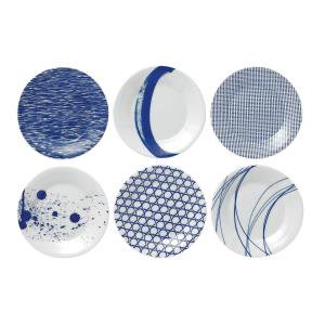 Blue Willow Luncheon Plate (Pacific Tapas Plates, 6.3-Inch, Blue, Set of 6 )