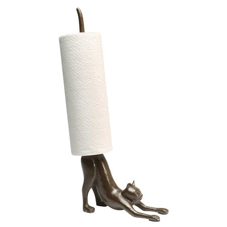 Paper Towel Stand - Yoga Cat Cast Iron Holder - Exclusive Fr