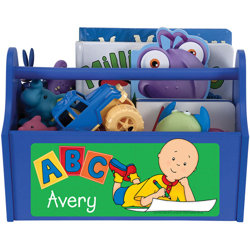 Personalized Caillou ABC Blue Toy Caddy