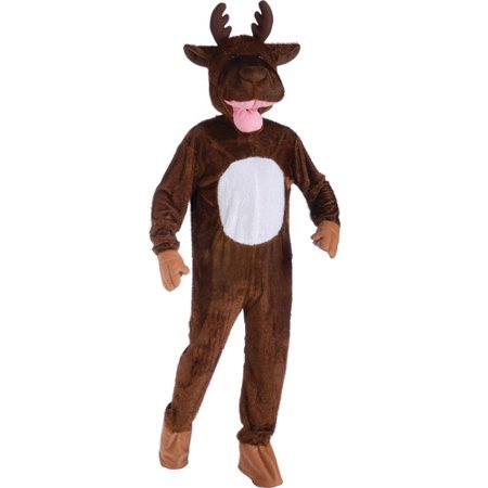 Moose Mascot Adult Halloween Costume - One Size