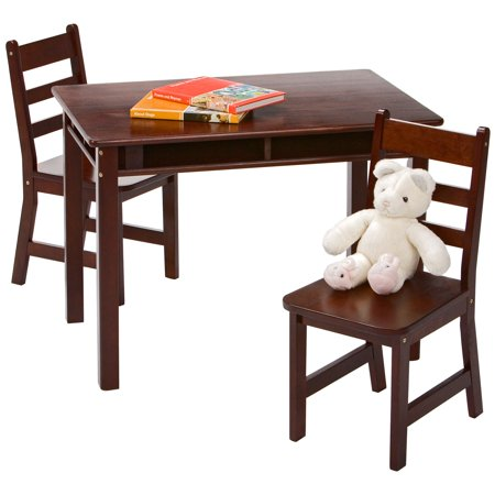 Lipper Childrens Rectangular Table And 2 Chairs Set With Shelves Multiple Colors Walmart Com Walmart Com