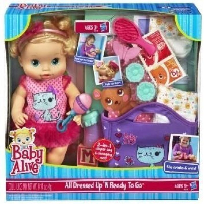 Baby Alive All Dressed Up N Ready To Go Doll by Hasbro