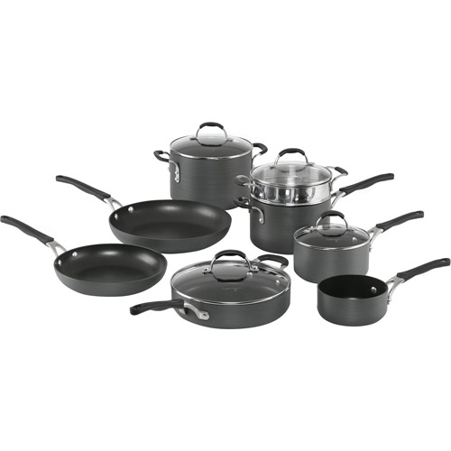 Cooking with Calphalon Hard-Anodized Nonstick 12-Piece Cookware Set