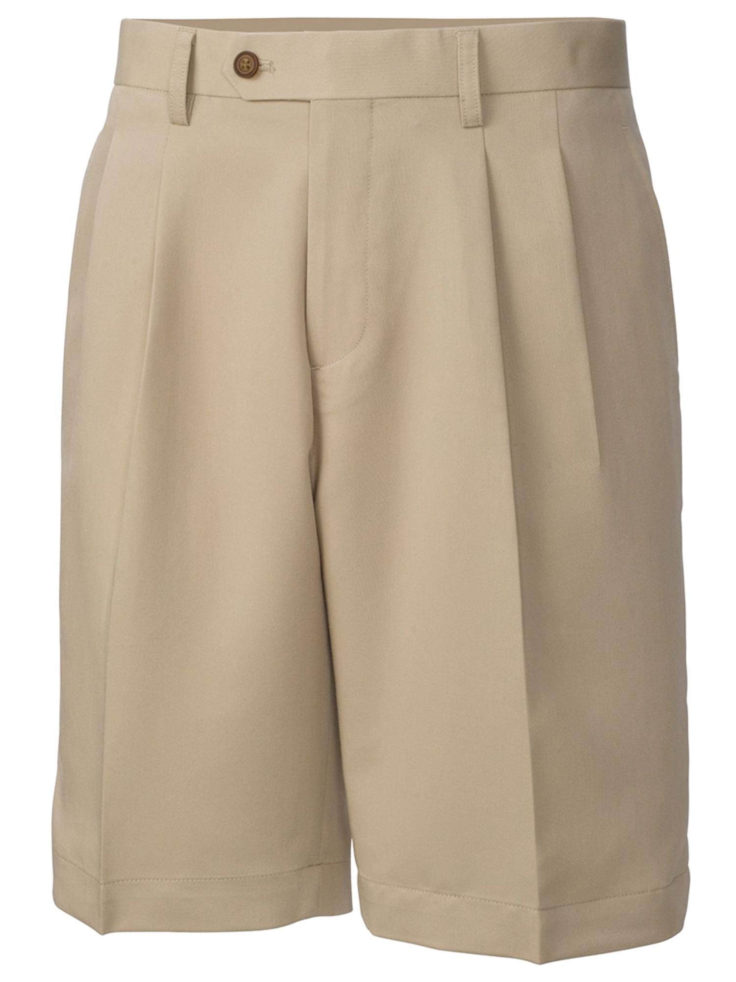 Cutter & Buck Men's Big & Tall Pleated Twill Microfiber Shorts - BCB01826