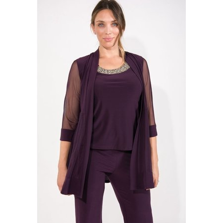 R&M Richards Formal Mother of the Bride Pant Suit w/ (Women's Straight Jacket)