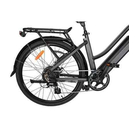 "T4B Pulse Low Step City Bike - Bafang 350W Brushless Electric Motor, 8 Speed, Samsung Li-Ion Battery 36V13Ah, 26"" Tires - Black - image 9 de 12"