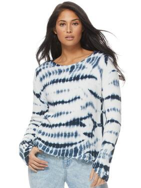 Sofia Jeans by Sofia Vergara Long Sleeve Tie Dye Sweater, Women's