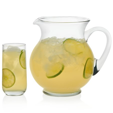 - Libbey Acapulco Glass Entertaining Set with 4 Glasses and Pitcher