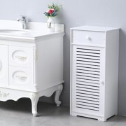 Zimtown  Bathroom Storage Cabinet, Standing Floor Cabinet with Drawers for Bedroom, Living Room, Office -White