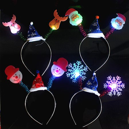 Halloween Christmas Party Cute Animal Healthy LED Light Hairband Children's Toys for Kids Gifts Style:Christmas mixed style](Halloween Healthy Punch)