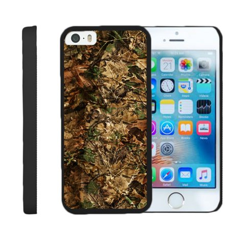 [Apple iPhone SE Case, iPhone 5/5s Case for girls][Snap Shell] Hard Plastic Protector with Non Slip Matte Coating by Miniturtle® - Hunting Leaves Camo thumbnail