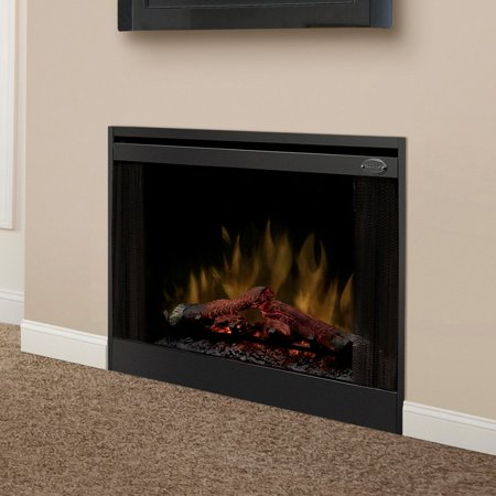 dimplex 33 in slim line built in electric fireplace insert