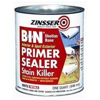 Rust-Oleum Zinsser B-I-N Interior & Spot Exterior Primer, Sealer, & Stain Killer Base, White, 1 Quart