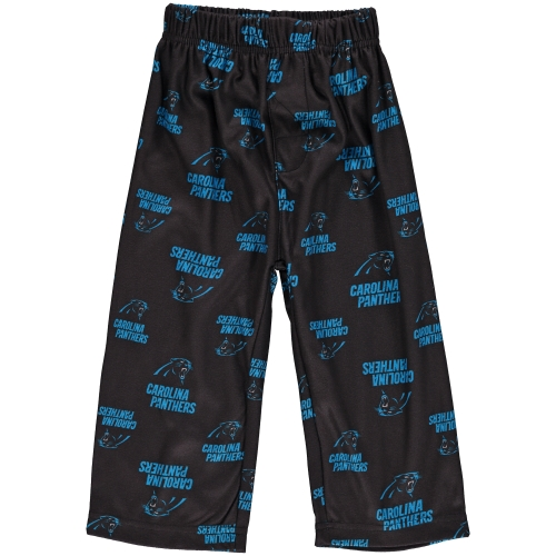 Carolina Panthers Toddler Allover Print Pajama Pants - Black