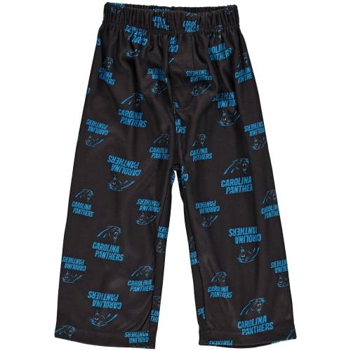 Carolina Panthers Toddler Allover Print Pajama Pants - Black