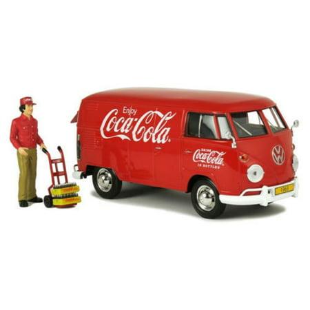 MOTOR CITY CLASSICS 1:24 COCA-COLA - 1963 VOLKSWAGEN TYPE 2 (T1) CARGO VAN WITH FIGURE DIECAST TOY CAR (Plan City Car)