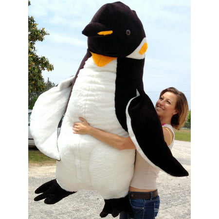 Penguins Stuffed Animals (American Made Giant 5 Foot Stuffed Penguin Huge Soft Oversized Plush)