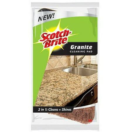 3M 38788 Scotch-Brite Granite Cleaning Pad, 2-Pack 12 Pack Scratch Pad