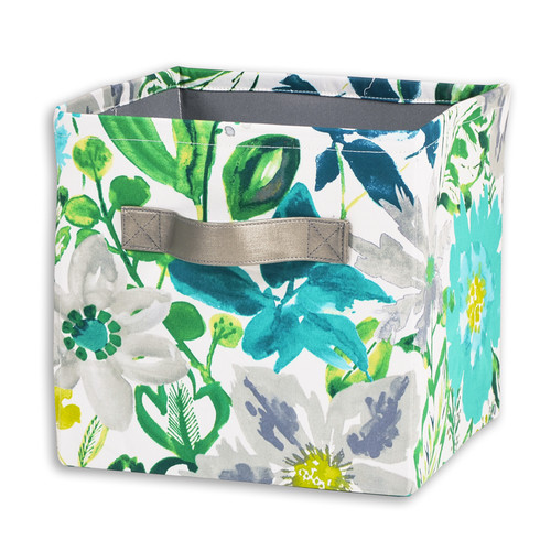 Brite Ideas Living Okeefe Turquoise Storage Bin with Handle