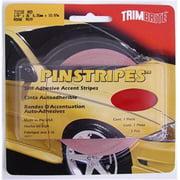 TRIMBRITE T1218 Pinstripe Tape, Red, 0.25 In. X 36 Ft.