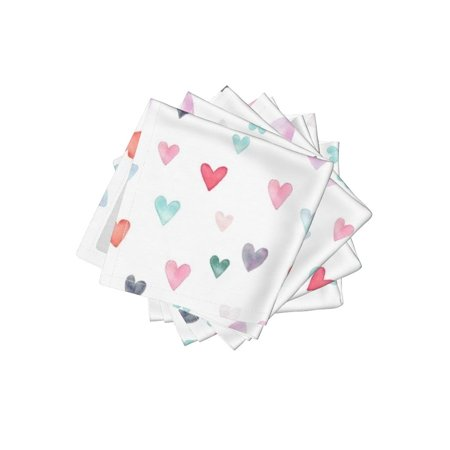Cocktail Napkins Small Hearts Valentine'S Indy Bloom Design Indy Bloom Set of 4 - Valentine Cocktail