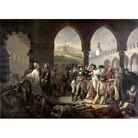Bonaparte Poster Bed (Napoleon Bonaparte Visiting The Plague Stricken at Jaffa Poster Print by Antoine-Jean Gros (10 x 14))