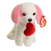 TY Beanie Baby - AMORE the Pink & White Dog (6 inch)